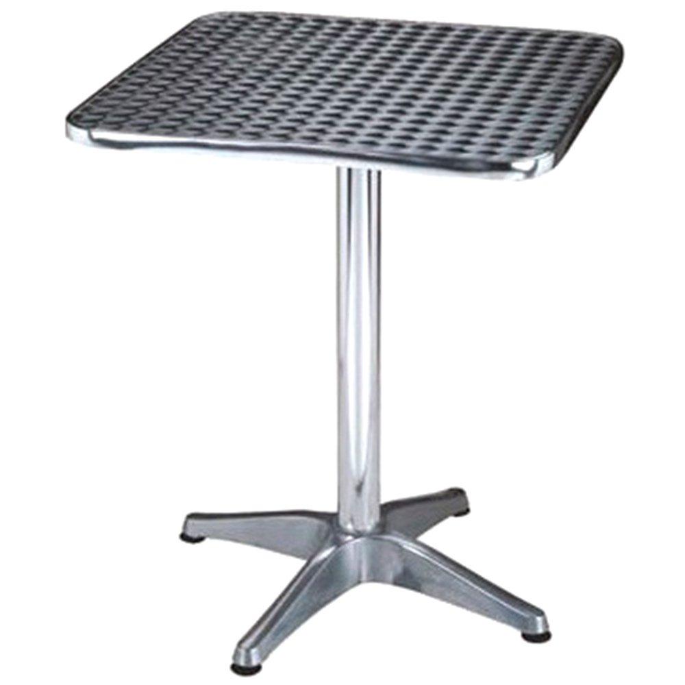 Tavolo a colonna 70x70cm waterproof in alluminio bar arredo esterno CT804524 Evergreen