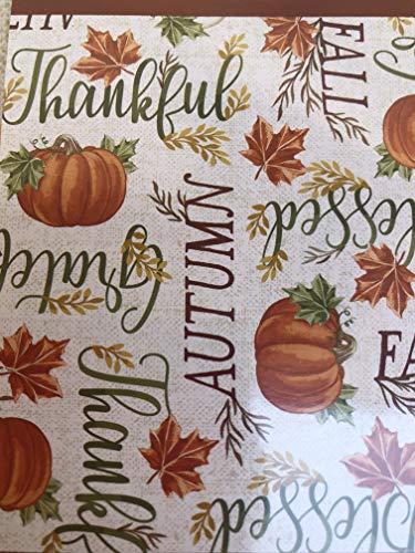 Autumn Vinyl Tablecloth Pumpkins, Fall, Harvest Themed (60 Round)