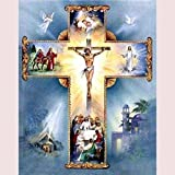 (24x34cm) 5D DIY Diamond mosaic diamond embroidery Christian Cross Jesus Christ mbroidered Cross Stitch Home decoration Gift