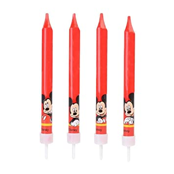 Generique - 4 Velas de cumpleaños Mickey 9 cms: Amazon.es ...