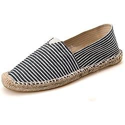 LaRosa Women's Sneaker Casual Fashion Loafer Slip-On Espadrille Flat Canvas shoes