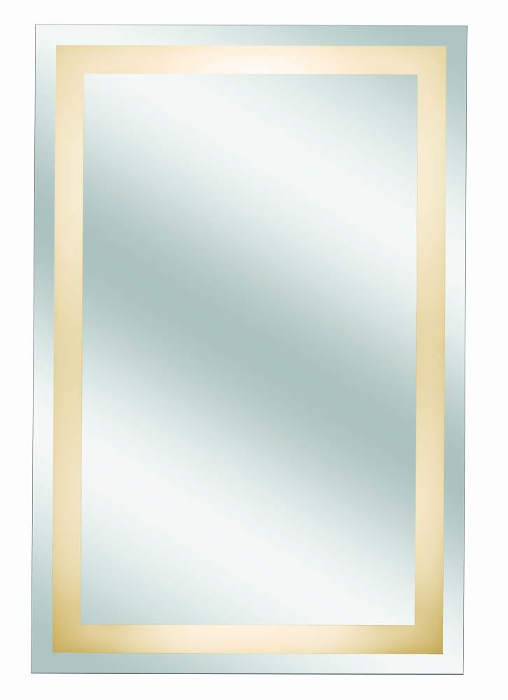 1X Magnification 36-Inch by 24-Inch Kimball /& Young 30001HW Classic Border Design Back Lit Mirror Assembly