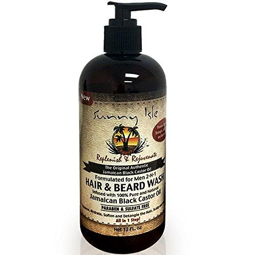 Sunny Isle Jamaican Black Castor Oil 2-N-1 Hair & Beard Wash Formulated for Men - Mens Sunnies