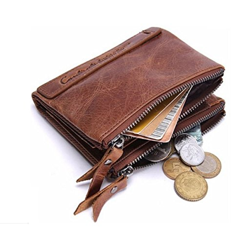 Clutch Wallet Mens Leather Bifold Card Holder for men wallets - 6