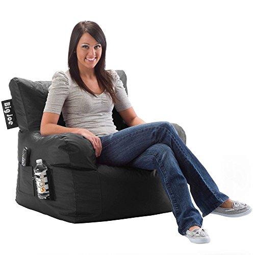 Black Bean Bag Chair Soft Stuffed Cozy Premium Filled Dorm Drink Holder (Stuffed Cozy)