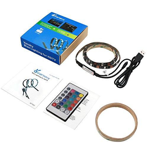 Led Home Theater Tv Back Light Bias Accent Lighting Kit: Vansky Bias Backlight Strip For HDTV USB LED Multi Color