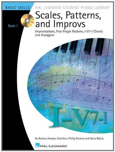 By Fred Kern Scales, Patterns and Improvs - Book 1 - Book/CD Pack: Improvisations, Five-Finger Patterns, I-V7-I C (Pap/Com) ()