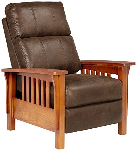 (Evan Palance Dixie Espresso 3-Way Recliner Chair)