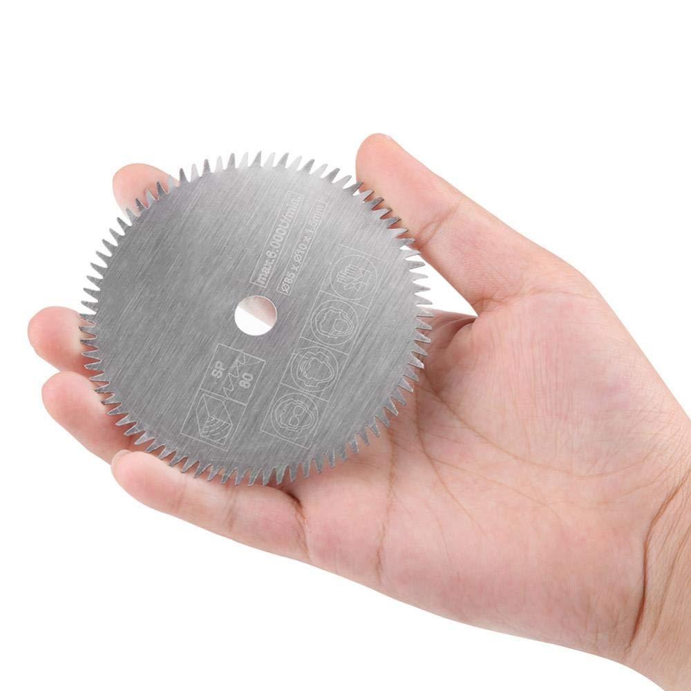 Hoja de sierra de carburo cementado de 80 mm y 80 mm hoja de sierra circular de carburo cementado de 10 mm 85 mm y 80 dientes de madera