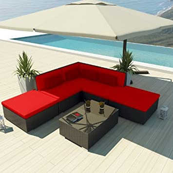 Amazon Uduka Outdoor Sectional Patio Furniture Espresso Brown