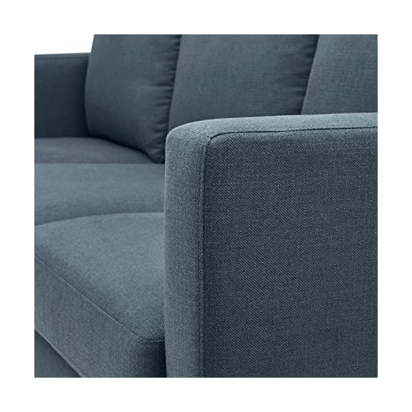 "Rivet Revolve Modern Sofa, 80""W, Denim 2"