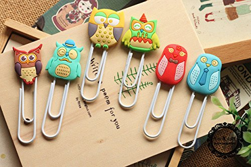 6pcslot-Cute-Creative-Owl-Family-design-Metal-Paper-clipDIY-Multifunction-Bookmark-Office-School-Supplies