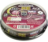 ALL-WAYS BD-RE 25GB 2X Speed Rewritable Printable Blu-Ray Disc - 10 Pack Spindle