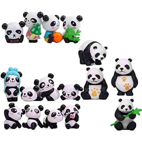 16pcs Mini Panda Miniature Doll DIY Micro Landscape House Decor Accessories Toy