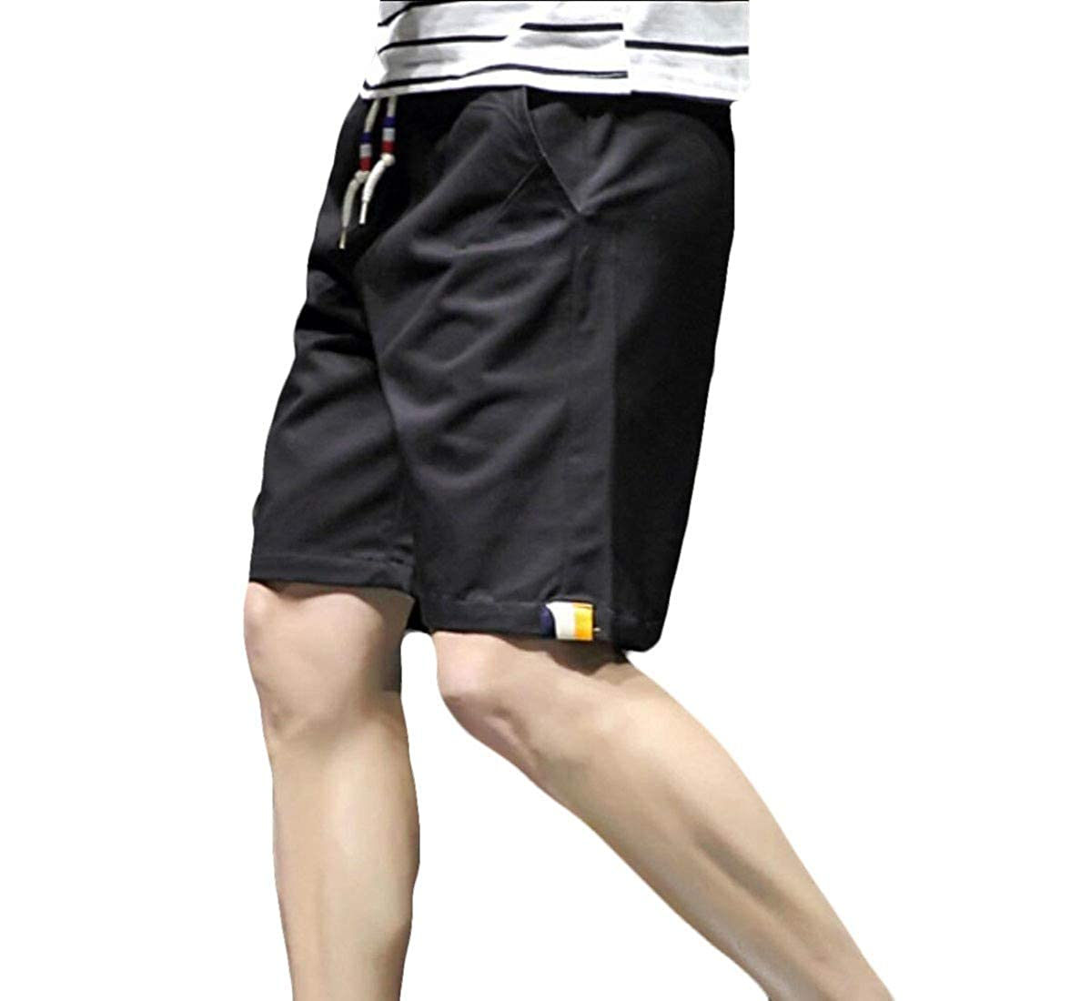 Vska Men Loose Fit Beach Trousers Casual Summer Slim Fit Sports Short