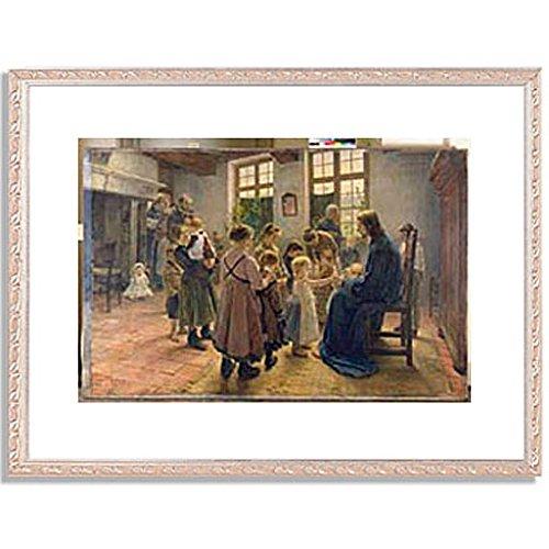 フリッツフォンウーデ Uhde, Fritz von「Let the Children Come to Me. 1884」インテリア アート 絵画 プリント 額装作品 フレーム:装飾(銀) サイズ:L (412mm X 527mm) B00OFCS3OE 3. L(412mm x 527mm)|5. フレーム:装飾(銀) 5. フレーム:装飾(銀) 3. L(412mm x 527mm)