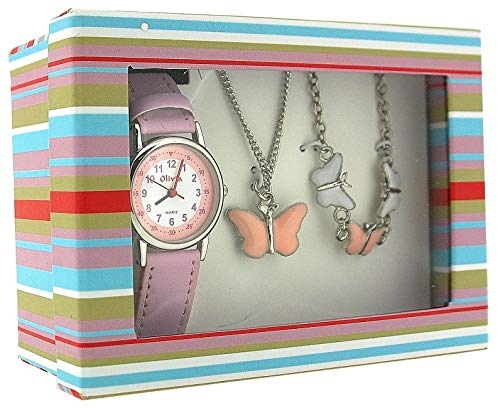 The Olivia Collection Kids Butterfly Watch & Jewellery Gift Set For Girls KS002 from The Olivia Collection