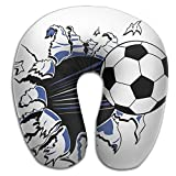 Lesi Yes U Shaped Neck Pillow Memory Foam Soft Soccer Football Break The Wall Indoor Outdoor Travel Airplane Car Office School