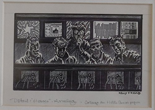 - KELLY FREAS original art, HEROES Analog interior final, Signed, Collage