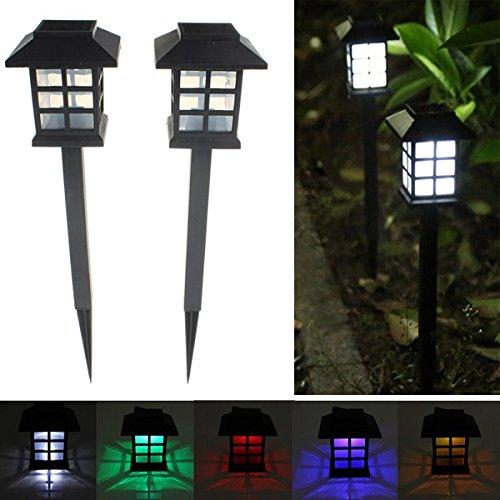 2pcs Garden Solar Oriental LED Lamp Outdoor Yard Lawn Decorative Light (Random: Color) (Jeep Awd Bike)