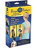 Royal Posture Back Support Brace- Back Support Belt that Aligns Your Spine, Posture Corrector (S/M) (1 Royal Posture)