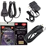GPS Charging Bundle 5 Piece Kit for Garmin Nuvi 2595LMT : Car Charger, House Charger and USB Cable Charger with Antenna Booster, Anti Radiation Shield .