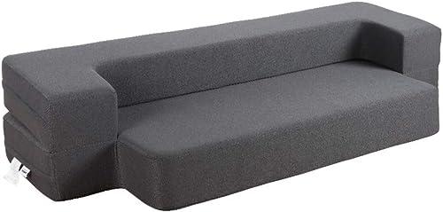 HonTop 8 Inch Sofa Bed Memory Foam Sofa Folding Bed Queen Sofa Bed Gray Sofa Bed