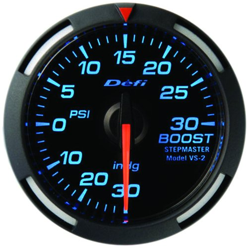 Defi Link Gauges (Defi DF06501 Racer Boost Gauge, 52mm, Blue)