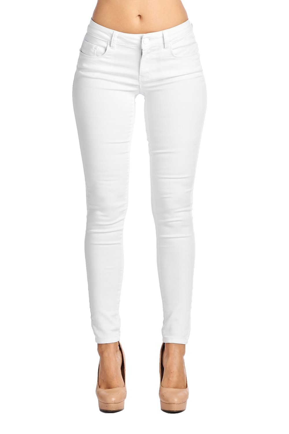 Blue Age Multistyle Denim and Cotton Skinny Jeans/Pants (11, JP1022_White)