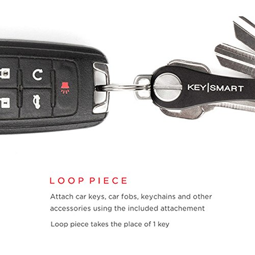(KeySmart Compact Key Holder Add-on Accessory - Stainless Steel Loop Piece)