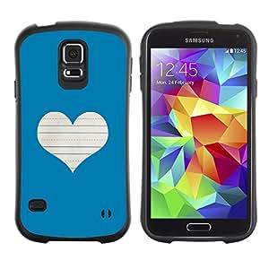 Paccase / Suave TPU GEL Caso Carcasa de Protección Funda para - Heart Love Notebook White - Samsung Galaxy S5 SM-G900