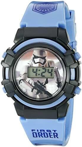 Star Wars Star Wars Kids' SWM3010 Digital Display Analog Quartz Blue Watch