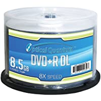 50-Pack Optical Quantum OQDPRDL08LT 8.5GB 8X DVD+R DVD Disc Spindle + Verbatim Disc