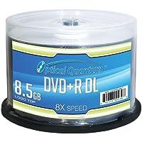 Optical Quantum Vinpower Digital JVC OQDPRDL08LT Disco DVD Grabable (DVD+R DL), de Doble Capa, 8x, 8.5 GB, en blanco, Cubierta Imprimible