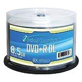 Vinpower Digital - JVC OQDPRDL08LT Optical Quantum 8X 8.5 GB DVD+R DL Double Layer Recordable Blank Media Logo Top