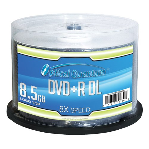 Vinpower Digital - JVC OQDPRDL08LT Optical Quantum 8X 8.5 GB DVD+R DL Double Layer Recordable Blank Media Logo Top