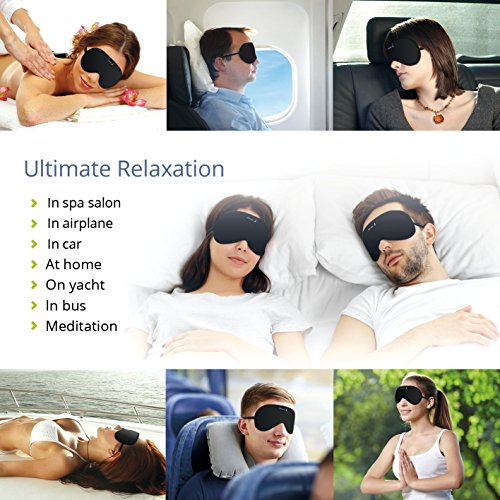 Quiet Harbor Natural Cotton Sleep Mask & Blindfold for Yoga & Travel, Super smooth Eye Mask with ear plug and carry pouch