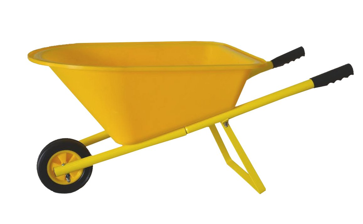 Children's Wheelbarrow - Yellow, Kid's Garden Tool Product SKU: GT25008