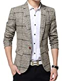 Best Man Buttons - Benibos Men's Casual One Button Slim Fit Blazer Review