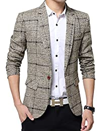 Benibos Men's Casual One Button Slim Fit Blazer Suit Jacket