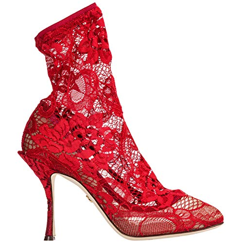 Dolce&Gabbana Women Coco Heeled Ankle Boots Rosso