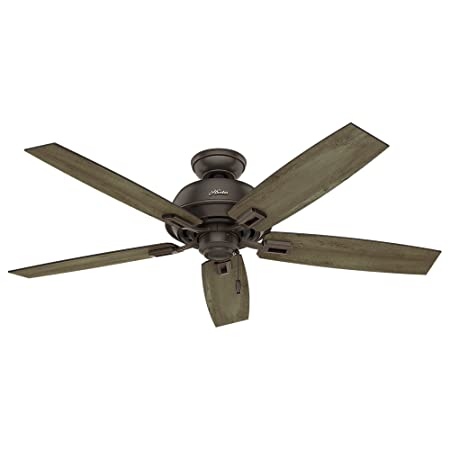 Hunter Fan Company Hunter 54167 52 Donegan Onyx Bengal Ceiling Fan White