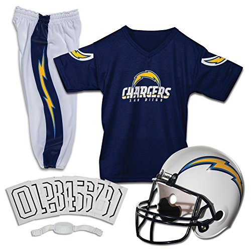 Franklin Sports NFL San Diego Chargers Deluxe Youth Uniform Set, Small