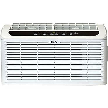 Haier ESAQ408P Serenity Series 8000 BTU 115V Window Air Conditioner on