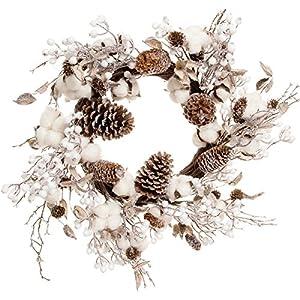 """Darice 30031676 Cotton & Cone Wreath 24"""" 50"""