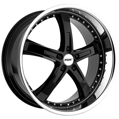 TSW Alloy Wheels Jarama Gloss Black Wheel with Machined Lip (17x8