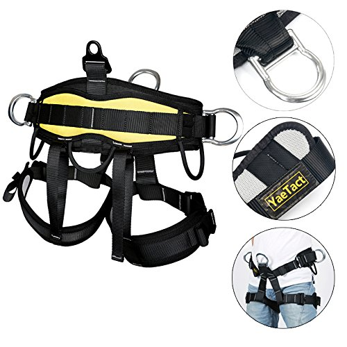 YaeCCC Climbing Harness Safe Belt for Fire Rescue High Altitude School Assignment Caving Rock Climbing Rappelling Equipment Body Guard Protect (Half Body-Model 2)