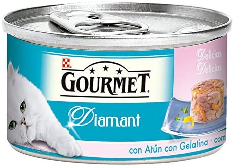 Purina Gourmet Diamant Delicias en Gelatina comida para gatos con ...