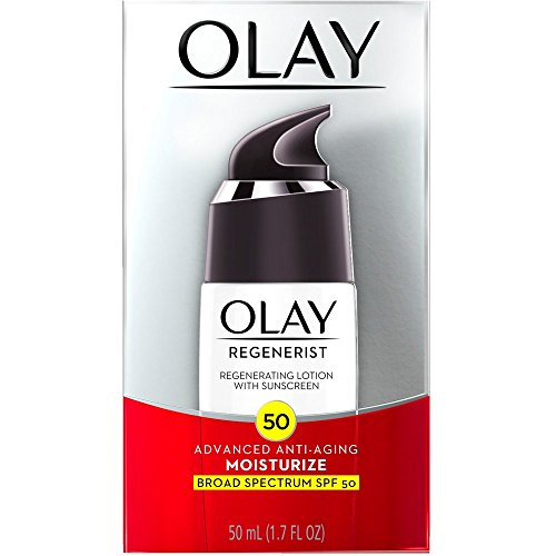 OLAY Regenerist Advanced Anti-Aging Moisturizing Lotion with Sunscreen SPF 50 1.70 oz Pack of 2