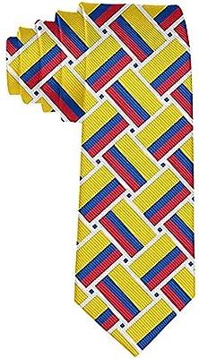 Corbata tejida de la bandera de Colombia de los hombres Corbata ...